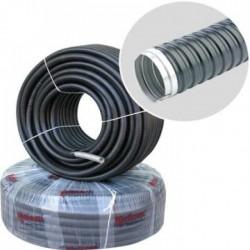 Гъвкава метална тръба Ф21 вътр. с изолация без тел