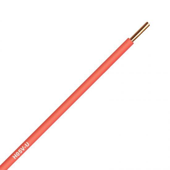 Инсталационен проводник H05V-U 1x0,75 mm² червен