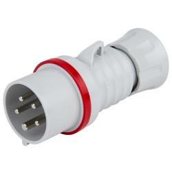 Щепсел подвижен 16А 3Р+N+Е 400V IP44 червен