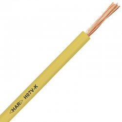 Проводник H07V-K 1X1,5 жълт