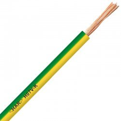 Проводник H07V-K 1X1,5 жълто - зелен