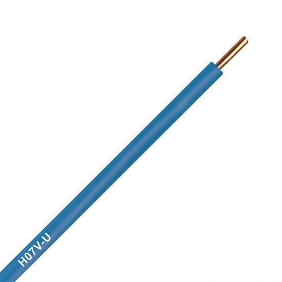 Инсталационен проводник H07V-U 1x6 mm² син