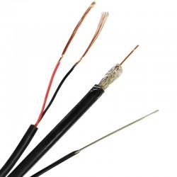 Коаксиален кабел RG6/96CCS - 2x0.5CU - Messenger 1.3mm