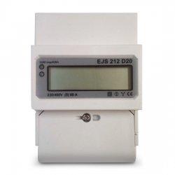 Електромер еднофазен EJS 212 D20 за монтаж на DIN-шина, многотарифен