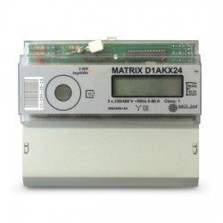 Електромер трифазен Matrix-D1AKX24E, за монтаж на DIN шина, до 60А, Ethernet протокол, директно свързване