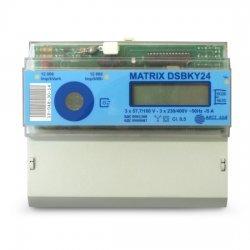 Електромер трифазен Matrix-DSBKY24, за монтаж на DIN шина, до 5A, за индиректно свързване
