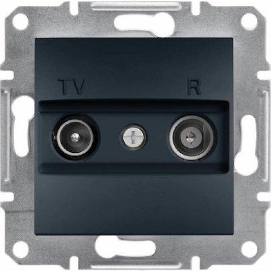Розетка TV-R 4dB ж+м междинна антрацит