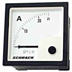 Амперметър 72x72mm, 25A, DC, директен