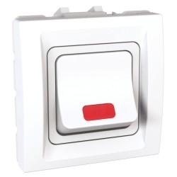 Еднополюсен ключ 32А бял двумодулен механизъм