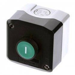 Превключвател бутонен XALD, XALK, 1 зелен бутон, 1NO, тъмносив