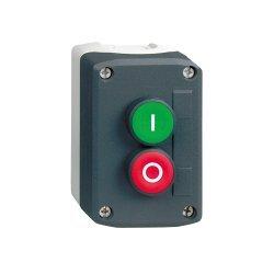 Превключвател бутонен, 2 бутона, 1NO + 1 NC, тъмносив