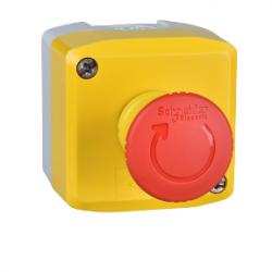 Превключвател бутонен, 1 червен бутон, 1NC, жълт