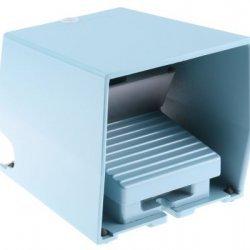 Превключвател крачен метален IP66 син 1NC+1NO 1O+F с капак