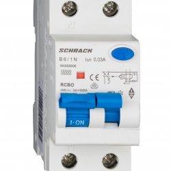 Дефектнотокова защита с прекъсвач AMPARO 1Р+N, B крива, 6A, 30mA, 6kA, тип A