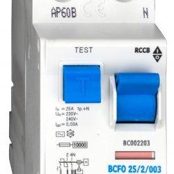 Дефектнотокова защита 2P 25A 30mA 10kA тип АС
