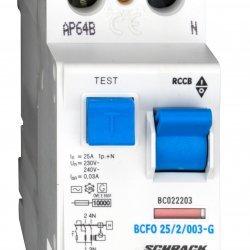 Дефектнотокова защита 2P 25A 30mA 10kA тип AС/G