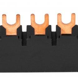Гребен за 3 моторни защити BE5, 3 фази, 45mm, виличен, с UL сертификат