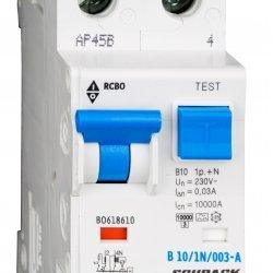 Дефектнотокова защита с прекъсвач 1Р+N, В крива, 10A, 30mA, 10kA, тип A