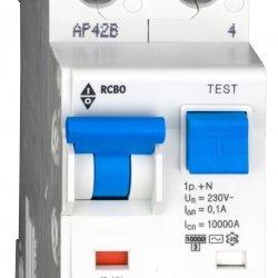 Дефектнотокова защита с прекъсвач 1Р+N, В крива, 13A, 100mA, 10kA, тип AС