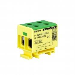 Клема редова 2,5-50mm², 2 входa/изходa, жълто-зелена, Al/Cu