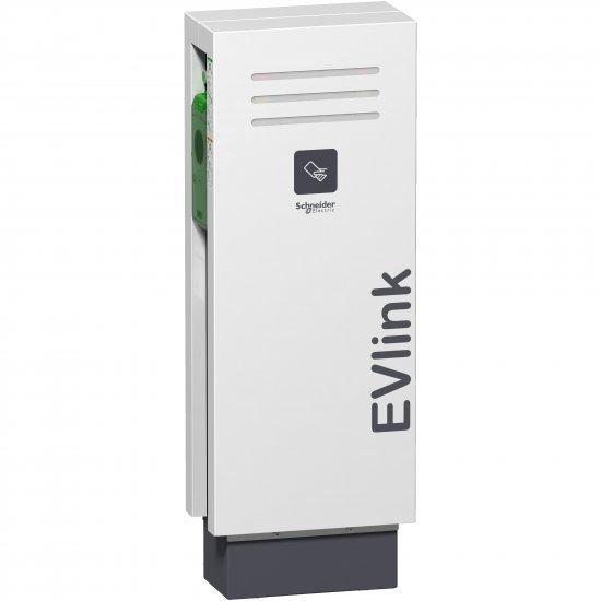 Станция за зареждане EVlink с 2 куплунга T2 с капак с RFID 7 kW