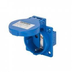 Контакт шyкo за индустриално тaблo 10°, 16A, IP54, 2P+E, немски стандарт