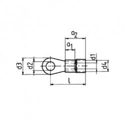 Кабелна обувка изол. 0,1 - 0,4 mm²/М2 жълта