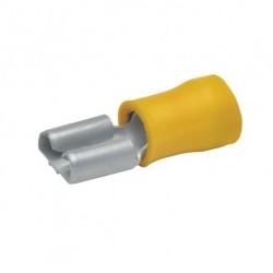 Авто - конектор женски 4,8x0,8 за 4,0 - 6,0 mm² - жълт