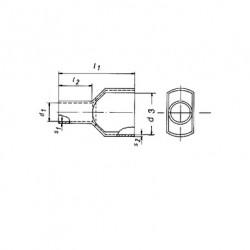 Кабелен накрайник изолиран 2х0,75мм2/8 сив