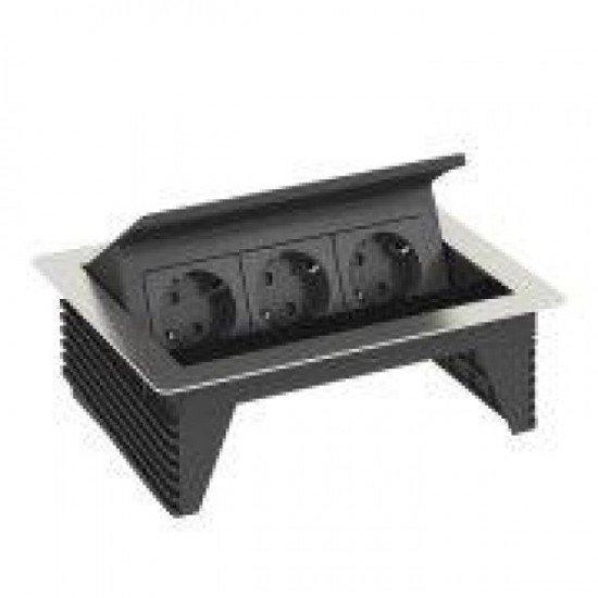Кутия за бюро с 2 шуко контакта и възможност за затваряне - Deskbox