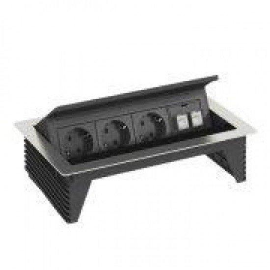 Deskbox с Шуко контакти - 3 и 2 х RJ 45 кат. 6 екранирани