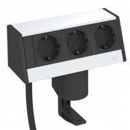 Кутия за бюро с 3 шуко контакта и затягаща скоба - Deskbox