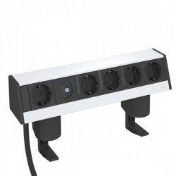 Deskbox - Шуко контакти - 1+4 и затягаща скоба