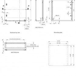 Табло метално 100х600х260 с монт.плоча