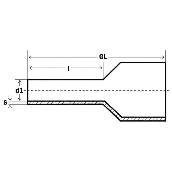 Кабелен накрайник изолиран 2x0.75мм2/8