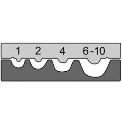 Вложка за неизолирани кабелни обувки от 1 mm² - 10,0 mm²