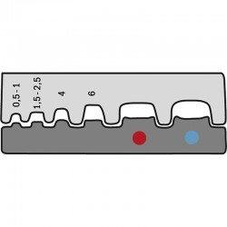 Вложка за неизол. гилзи  от 0,5 mm² - 6 mm²  и изол. обувки 0,5 - 2,5 mm²