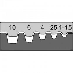 Вложка за изол.и неизол. кабелни гилзи от 1 mm² - 10,0 mm²