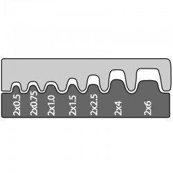 Вложка за изолирани двойни кабелни гилзи от 0,5 mm² - 6 mm²