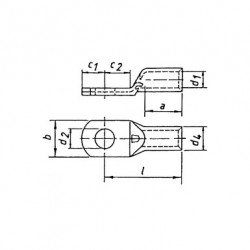 Кабелна обувка 10 mm²/М10