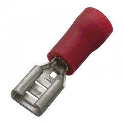 Авто - конектор женски 6,3x0,8 за 0,5 - 1,0 mm² - червен