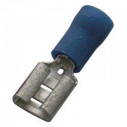 Авто - конектор женски 6,3x0,8 за 1,5 - 2,5 mm² - син