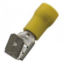 Авто - конектор м/ж 6,3x0,8 за 4 - 6 mm² - жълт