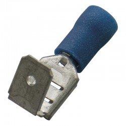 Авто - конектор м/ж 6,3x0,8 за 1,5 - 2,5 mm² - син