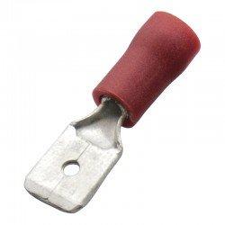 Авто - конектор мъжки 6,3x0,8 за 0,5 - 1,0 mm² - червен