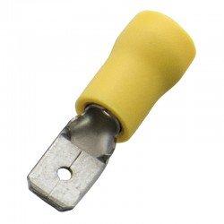 Авто - конектор мъжки 6,3x0,8 за 4 - 6 mm² - жълт