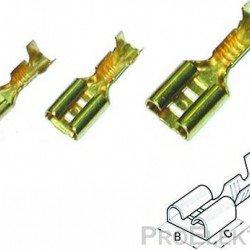 Авто - конектор женски неизол.6,3x0,8 за 0,5 - 1,0 mm² /100бр.