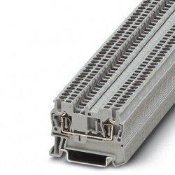 Клема редова пружинна 1,5 mm² сива - 2връзки