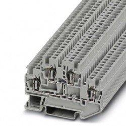 Клема редова 2-редова пружинна 1,5 mm² сива - 4връзки