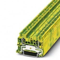 Клема редова пружинна 1,5 mm² жълто - зелена - 2връзки